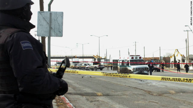 An ambulance was attacked by gunmen in a series of violent attacks in the border town of Juarez