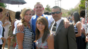 Campuzano is on hand with his wife, Lanita, left, son Anthony and daughter Taylor at Anthony\'s high school graduation.
