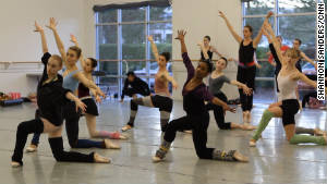 Dancers at Carolina Ballet rehearse for this year\'s production of \