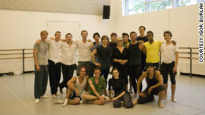 Olga Kostritzky with some of her former students from School of American Ballet.