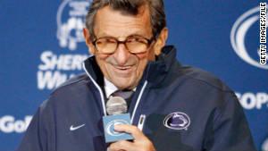Penn State football coach Joe Paterno misused the word \