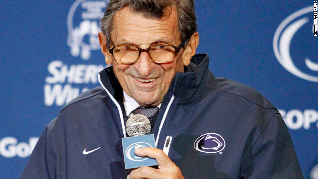 Penn State trustees on Thursday announced Joe Paterno
