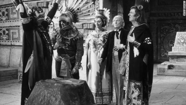 The Doctor (William Hartnell), second from right, encounters the ancient Aztecs in a 1964 episode of the TV series.