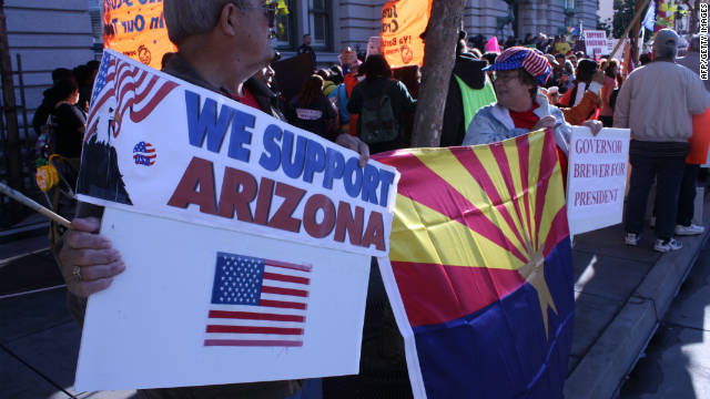 Arizona's tough immigration law has sparked demonstrations by supporters and opponents.