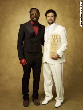 Singer Will.i.am and CNN Hero Sal Dimiceli.