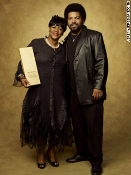 CNN Hero Diane Latiker of &quot;Kids Off the Block&quot; joins rapper/actor Ice Cube.