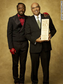 Musician Will.i.am and CNN Hero Patrice Millet.