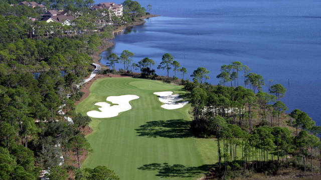 The WaterColor Inn and Resort on Florida's Gulf of Mexico offers luxurious waterfront accommodation and two 18-hole courses. The Shark's Tooth, as the name would imply, was designed by Greg Norman and is only available to guests at the resort.