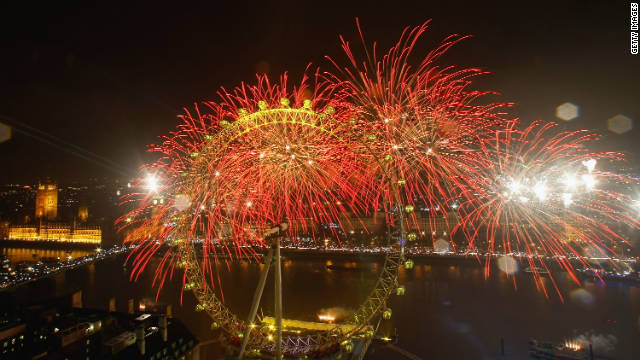 Cruise down the Thames while ringing in the New Year in London, UK.