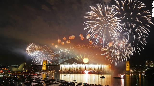 Be dazzled by the fireworks on Sydney Harbor, Australia.