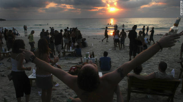 Dance on the beach in Thailand's Koh Phangan.