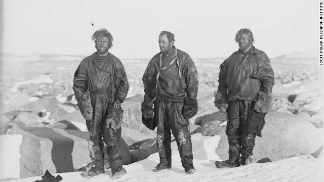 "The ""Northern Party"" were trapped for months in an ice-cave during a perilous geological expedition in 1911. Photo: Members of the Northern party, by Murray Levick."