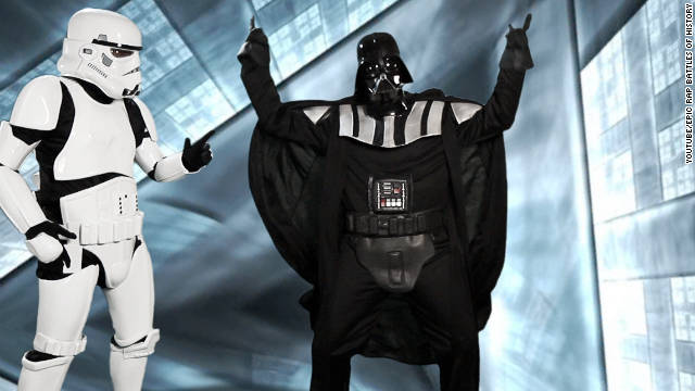 Vader takes on 'Hitler' in historical rap battle