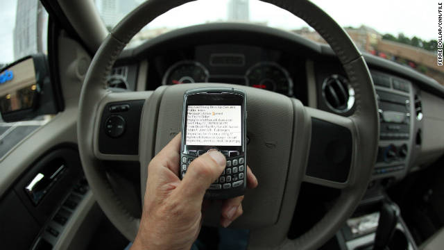 Texting on a cell phone and driving might be banned nationwide.