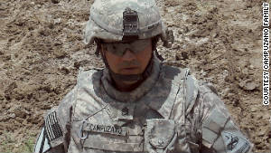 First Sgt. Marc Campuzano has served three tours in Iraq. The last time \