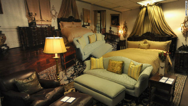 Furniture from Michael Jackson's last residence went under the hammer in Beverly Hills on Saturday. Many pieces are well-known due to crime scene photos shown in the trial of Michael Jackson's doctor.