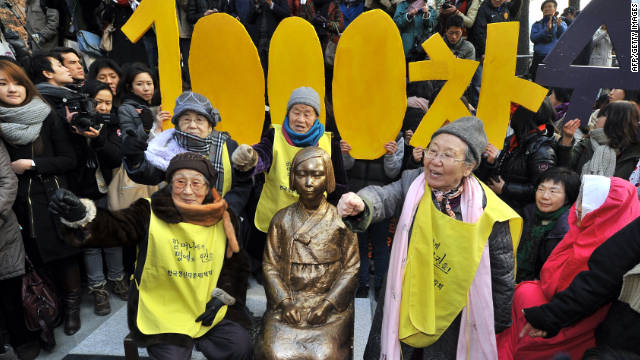 South Korean 'comfort women' mark 1,000th rally for Japan apology