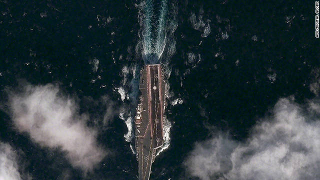 U.S. satellite firm says it has first image of Chinese aircraft carrier