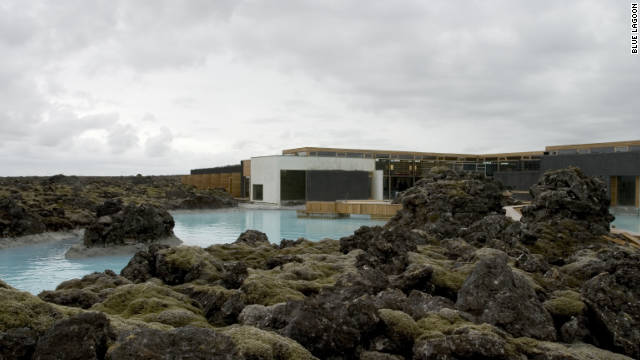 The luxurious Blue Lagoon spa outside Rekjavik, Iceland