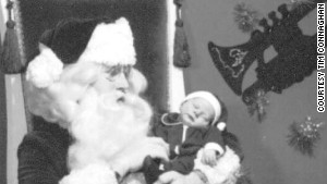 In 1972, Santa Tim, then a college student, posed at Bullock\'s department store with his brother Marcus, now 39.