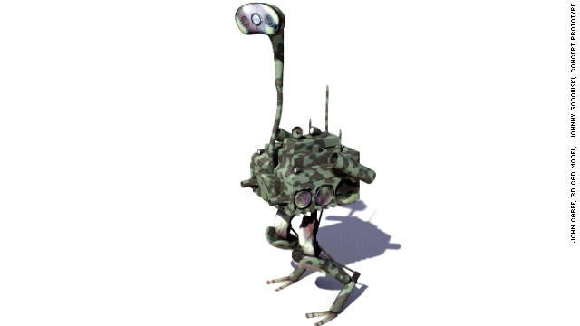 "The Florida Institute for Human and Machine Cognition is working on the FastRunner project. It aims to build a two-legged robot that can cover a moderately rough terrain ""as fast as the best human sprinters"" (CAD model of concept prototype)."