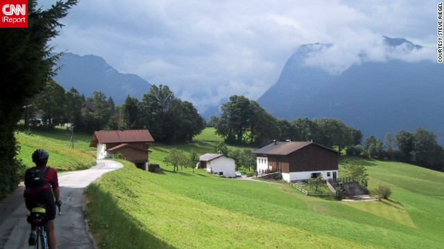"Steve Riegel snapped this shot while cycling on a country road near Hallstatt. ""I love the country and its friendly people. One of our most relaxing and satisfying vacations ever -- great to explore by bike."""