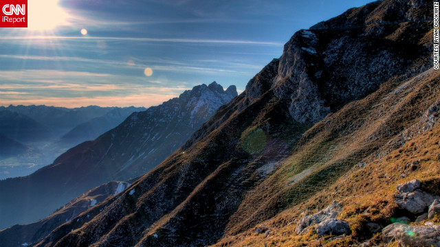 Ryan Duckwitz snapped this shot while hiking around Nordkette Mountain, above Innsbruck.