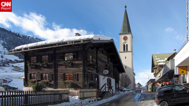 Christopher Kent Norden visited the mountain town of Gaschurn in the Montafon Valley and took this photo of the main street.