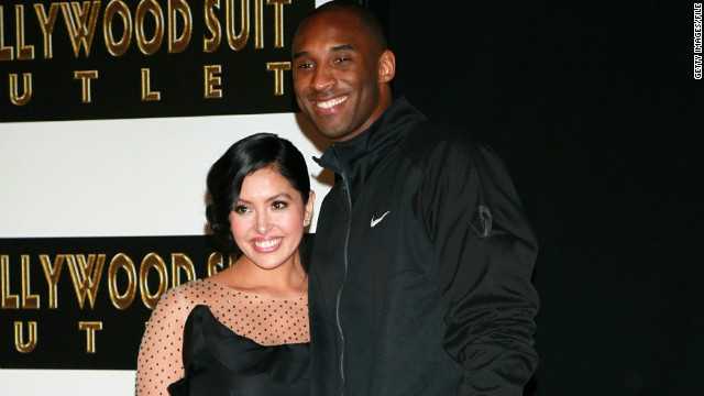 Kobe Bryant and his wife, Vanessa, attend his Hollywood Walk of Fame ceremony in February.