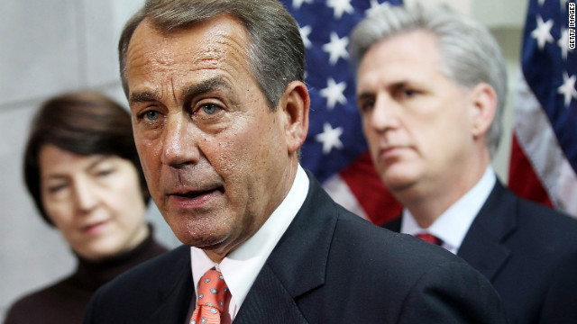 Boehner: the president lacks 'guts' and 'courage'