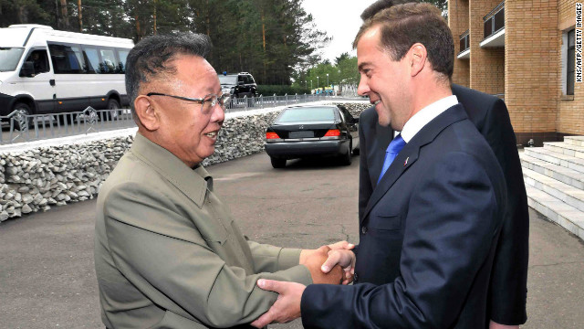 Kim Jong Il, left, meets Russian President Dmitry Medvedev last August at Ulan-Ude in southeastern Russia.
