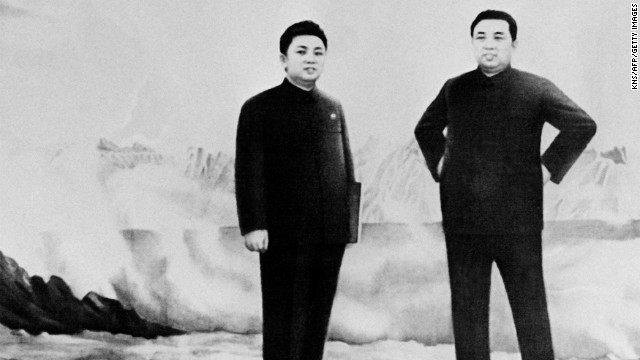 Kim Il Sung, right, stands with his son, Kim Jong Il, in November 1986. Kim Jong Il held a number of important positions in the 1980s and 1990s on North Korea's Central Committee, in the Politburo and in the Party Secretariat.