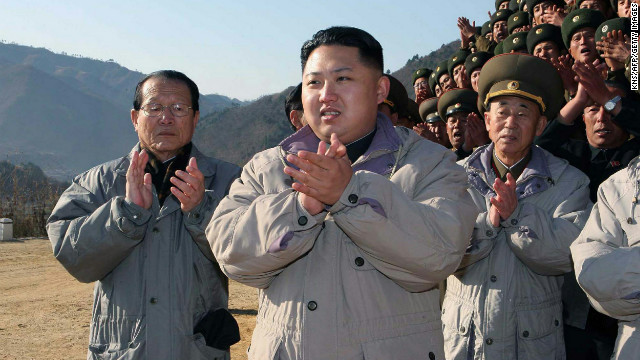 Kim Jong Un inspects the construction site of the Huichon Power Station in Jagang Province in November 2010.