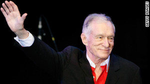 Hugh Hefner at a Playboy event in Las Vegas on May 15, 2010.