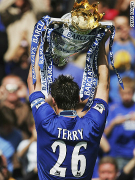 Chelsea sealed back-to-back Premier League titles in 2006, and in 2010 Terry became the first captain to lead the club to a league and FA Cup double.