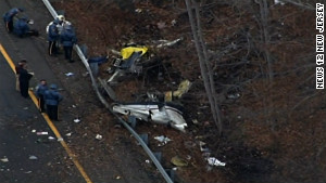 A fatal plane crash on Tuesday shut down most of Interstate 287 in Morristown, New Jersey.
