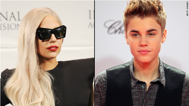 Gaga, Bieber are most charitable celebs of 2011