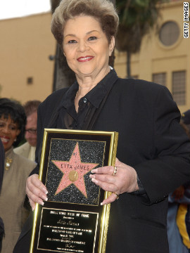 The singer receives a star on the Hollywood Walk of Fame in 2003.
