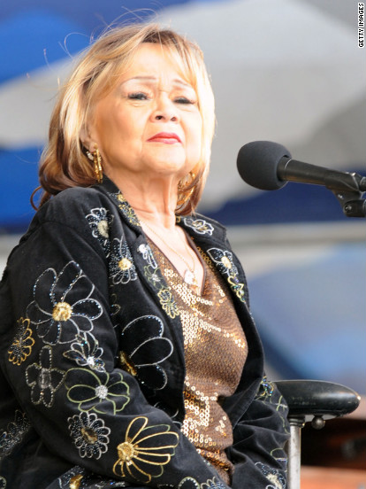 Etta James, here performing at the New Orleans Jazz & Heritage Festival in 2009, died Friday, January 20, due to complications from leukeimia, said her longtime friend and manager, Lupe De Leon. The singer was 73.