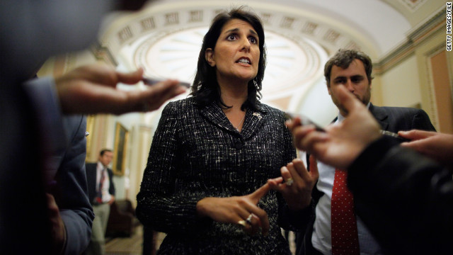 Gov. Haley blames 'psychotic' Washington for spending cuts