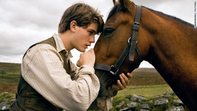 "<br/>Steven Spielberg's ""War Horse"" stars Jeremy Irvine as a young man whose horse is sold and used as a cavalry mount during World War I."