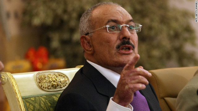 Yemeni President Ali Abdullah Saleh speaks in Sanaa on December 24, 2011.