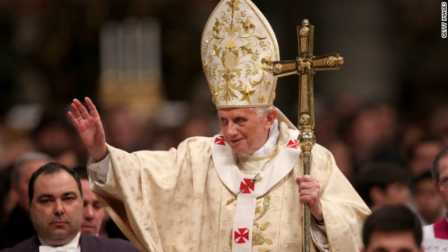 Pope Benedict XVI told the faithful at Midnight Mass that 