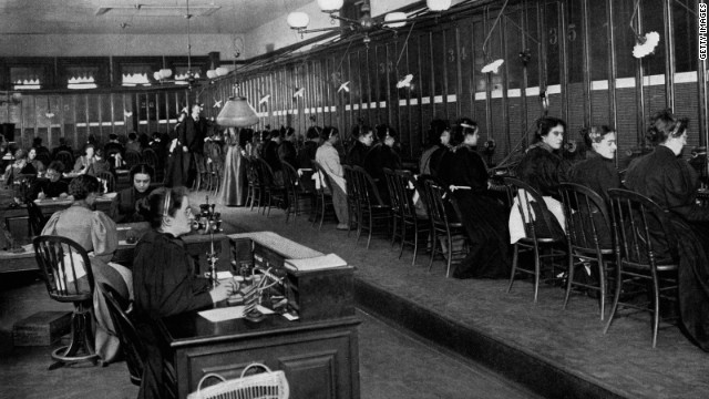 LZ Granderson doesn't want to turn the clock back to 1899, when these telephone operators ran the New York central telephone exchange, but he would like to speak to an actual human being.