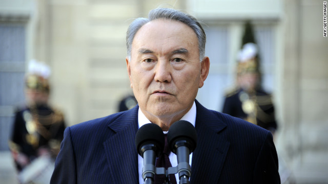Kazakhstan's President Nursultan Nazarbayev said stability is the main condition for the country's success (file photo).