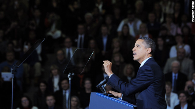 President Obama speaks on the economy at Osawatomie High School in Kansas on December 6.