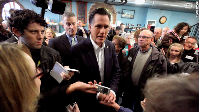 The quest for the GOP presidential nomination is well under way. Here GOP hopeful Mitt Romney, center, campaigns in Iowa.