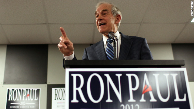 House Representative Ron Paul speaks at a town hall meeting Wednesday, in Newton, Iowa. Paul is in his third run for the presidency. He favors limited central government, limited foreign policy and limited use of military force. He wants to return the U.S. to using the gold standard. He has spoken out against the U.S. involvement in Iraq and Afghanistan and support of Israel.