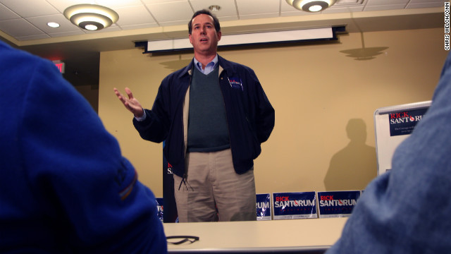 "Rick Santorum speaks at a town hall in Mount Pleasant, Iowa. Santorum is a former senator with a solidly conservative record. He has spoken out against giving government services to illegal immigrants. He supports an expansionist, interventionist approach to U.S. power and argues Iran is a real threat to Israel. As senator, Santorum voted for the use of force in Iraq, and against measures that limited how the Bush administration conducted its ""war on terror."""