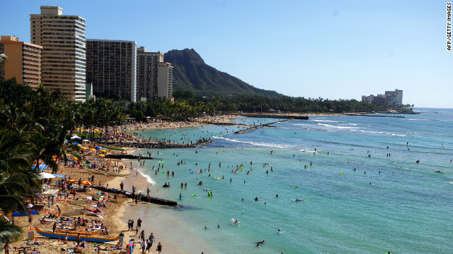 People often flock to visit friends who live in tourist hot spots such as Honolulu.